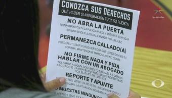 Migrantes crean red de protección contra redadas en California