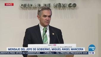 Miguel Ángel Mancera pide licencia, se separa de la Jefatura de Gobierno