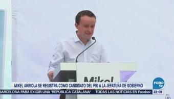 Mikel Arriola Registra Candidato Pri Jefatura Gobierno