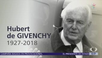 Muere el diseñador Hubert de Givenchy a los 91 años