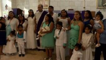 mujer bautiza sus 10 hijos monterrey nuevo leon