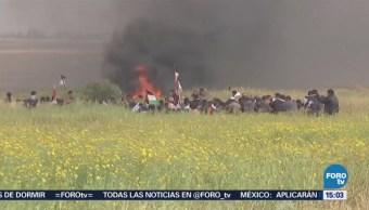 Nuevos Enfrentamientos Dejan 13 Heridos Gaza Israel