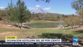 Ocupación hotelera de 90 por ciento en Colima