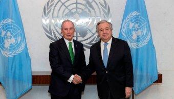 ONU nombra Michael Bloomberg enviado especial Accion Climática