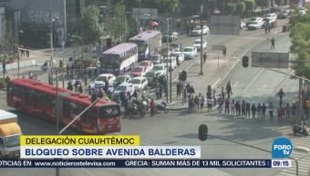 Padres de familia bloquean Arcos de Belén y Balderas, CDMX