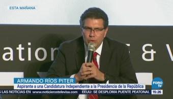 Para ganar la elección se requiere de propuestas y empatía: Ríos Piter