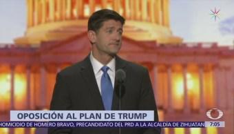 Paul Ryan y otros republicanos piden a Trump no imponer aranceles