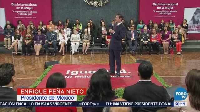 Peña Nieto destaca avances en favor de la mujer