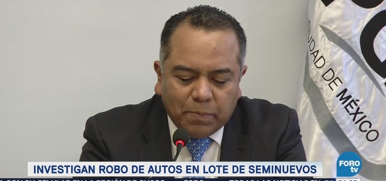 PGJCDMX investiga robo de ocho automóviles