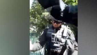 Denuncian abuso policial en avenida Vasco de Quiroga y Periférico, CDMX. (Noticieros Televis a)