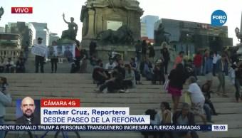 Protestan en CDMX por desaparición de jóvenes en Jalisco