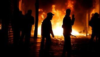 Protestan Madrid España muerte inmigrante africano