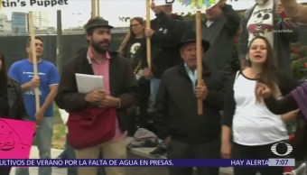 Protestan en Tijuana contra visita de Donald Trump a California