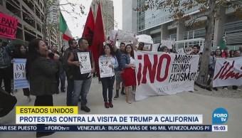 Protestas Contra Visita Trump California