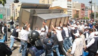 se registra enfrentamiento retiro ambulantes delegacion benito juarez