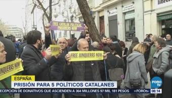 Quiénes son los políticos catalanes acusado por rebelión y sedición