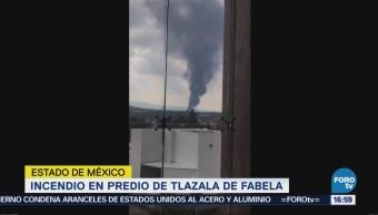 Incendio Predio Empleado Como Almacén Estado México