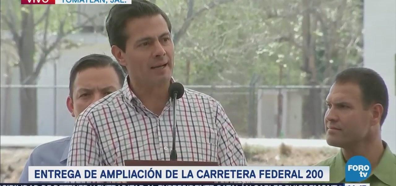 EPN entrega obra carretera en Jalisco