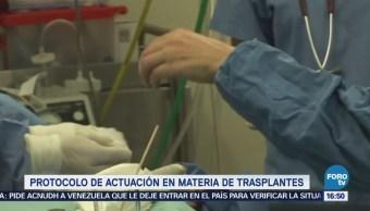 Activan protocolo actuación trasplantes México