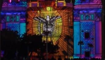 san luis potosi realiza espectaculo de luz en catedral