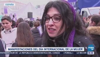 Realizan Histórica Huelga Feminista España