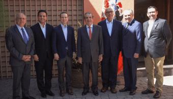 Ricardo Anaya se reúne con expresidentes de Chile, en Santiago