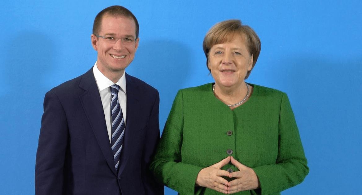 Ricardo Anaya sostiene encuentro con la canciller alemana Angela Merkel