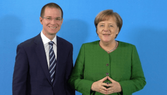 Ricardo Anaya se reúne con Angela Merkel en Berlín