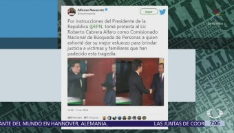 Roberto Cabrera Alfaro, nuevo titular de la Comisión Nacional de Búsqueda de Personas