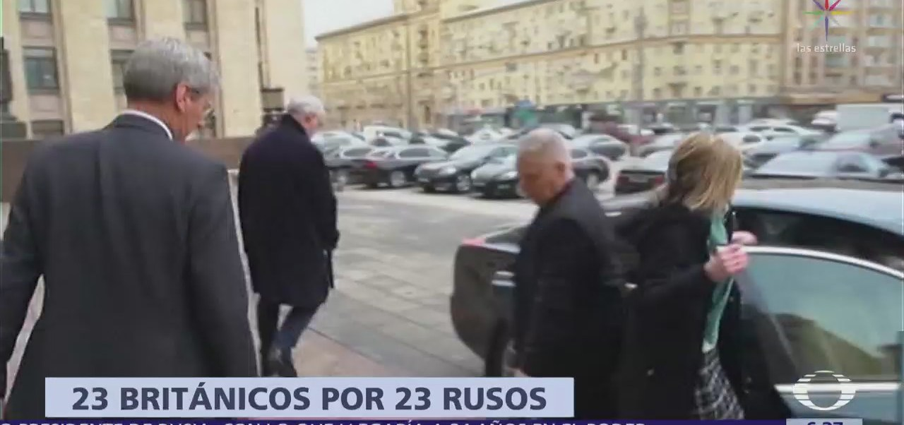 Rusia expulsa a 23 funcionarios británicos; tendrán que salir antes del sábado