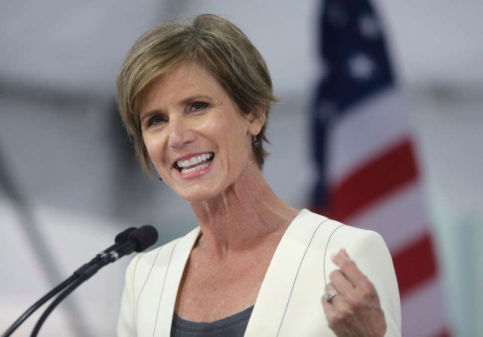 Sally Yates ejerció como fiscal general interina