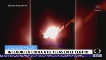 Se incendia bodega de telas en la colonia Centro, CDMX
