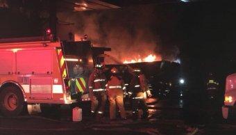Se incendia Parque Industrial Bernardo Quintana, en Querétaro