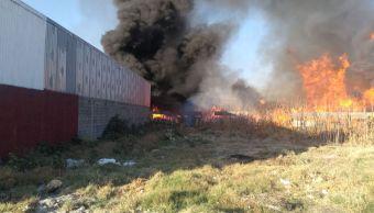Se incendia recicladora en Silao, Guanajuato