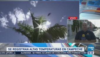 Se registran altas temperaturas en Campeche