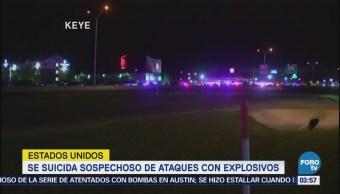 Se suicida sospechoso de ataques con explosivos en Texas
