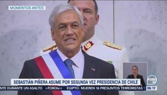 Sebastián Piñera Asume Poder Chile