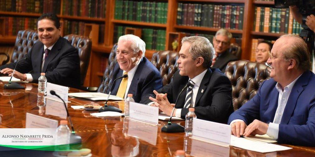 Analiza Segob estrategia de seguridad con gobernadores PRD y jefe de CDMX