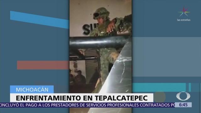 Seis civiles resultan heridos por enfrentamiento entre marinos y delincuentes en Michoacán