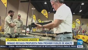Senado de Florida rechaza propuesta para prohibir fusiles de asalto