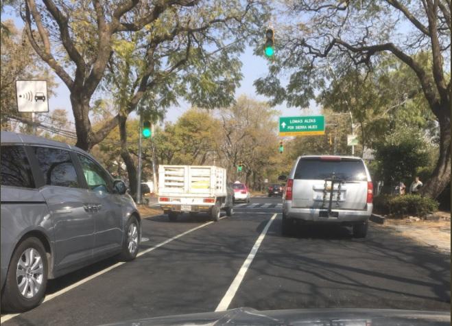 señales viales sobre reforma provoca confusion entre automovilistas