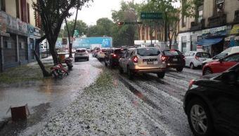 Activan Alerta Amarilla por lluvia y granizada en la CDMX