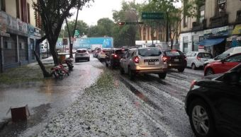 Se registra intensa lluvia en plena primavera en la CDMX