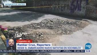 Sigue cerrada la carretera Xochimilco-Tulyehualco por grietas del sismo 19S