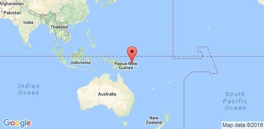 Sismo Magnitud   Costa Papua Nueva Guinea
