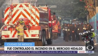 Sofocan incendio en Mercado Hidalgo de colonia Doctores, CDMX; no hay lesionados