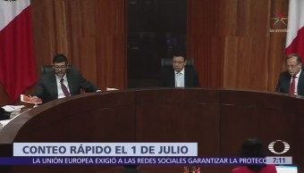 TEPJF: INE podrá difundir conteo rápido con tendencia de resultados de elección presidencial