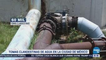Tomas clandestinas de agua en la CDMX