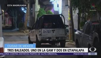Tres personas mueren por disparo de arma de fuego en la CDMX