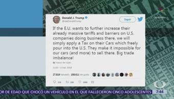 Trump amenaza con aplicar impuestos a automóviles procedentes de la Unión Europea